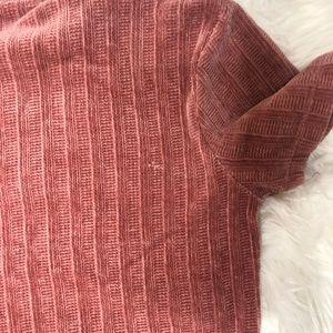Zara Tops - Zara Chenille Rose Pink short sleeve top